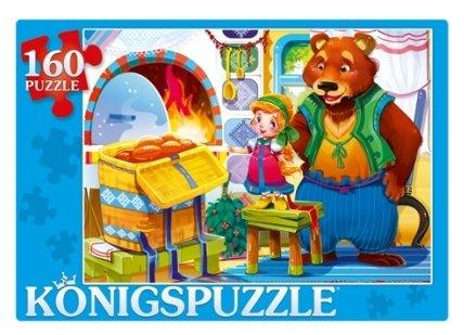 Пазл Рыжий кот Konigspuzzle Маша и медведь (ПК160-6113), 160 дет.