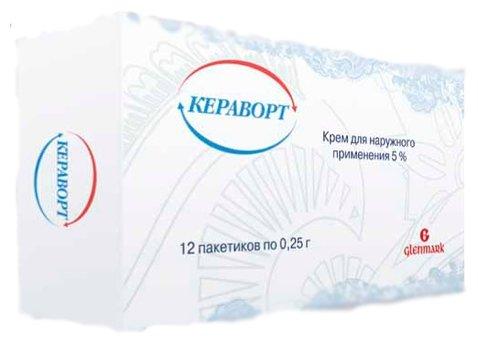 Кераворт крем д/нар. прим. 5% пак. 0,25г №12