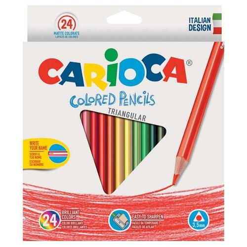 Купить Carioca набор цветных карандашей Triangular 24 цвета (42516/24), Цветные карандаши