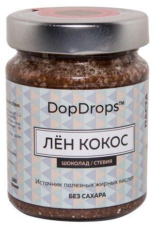 DopDrops Паста ореховая Лен Кокос (шоколад, стевия) стекло