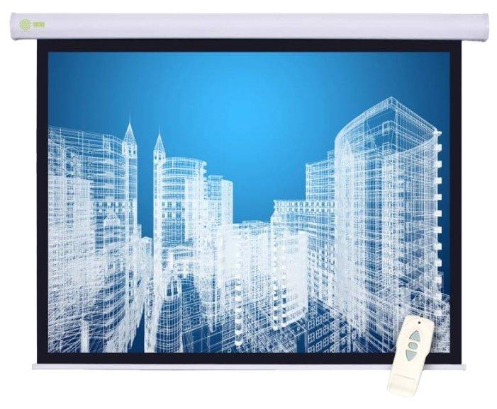 Рулонный матовый белый экран cactus Motoscreen CS-PSM-152x203