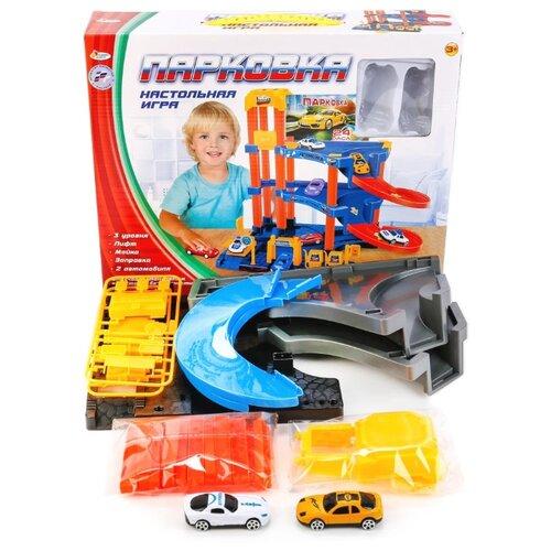 Играем вместе Парковка B1349246-R желтый/голубой/оранжевыйДетские парковки и гаражи<br>