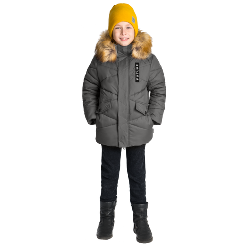 Купить Куртка BOOM! размер 104-56-51, серый, Куртки и пуховики