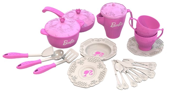 Набор посуды Нордпласт Барби 639