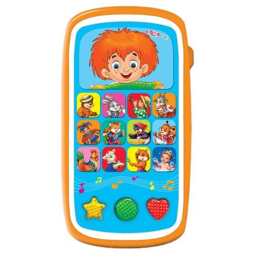 Интерактивная развивающая игрушка Азбукварик Мультиплеер с огоньками Весёлый Антошка оранжевый интерактивная развивающая игрушка азбукварик мультиплеер песенки в шаинского зеленый