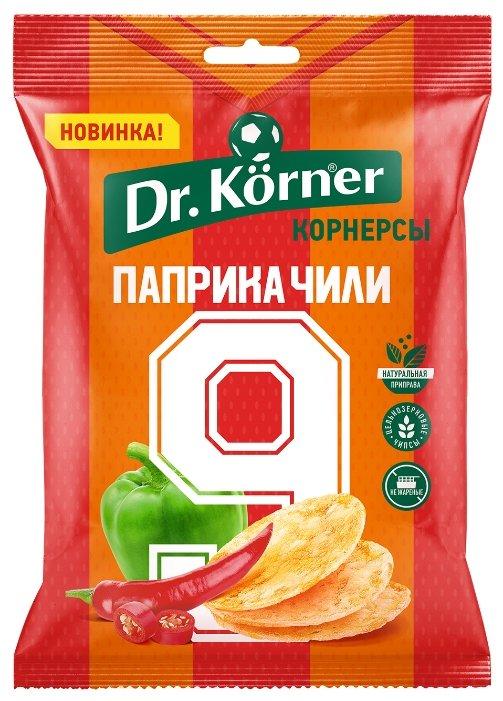 Чипсы Dr. Korner цельнозерновые кукурузно-рисовые корнерсы Паприка чили