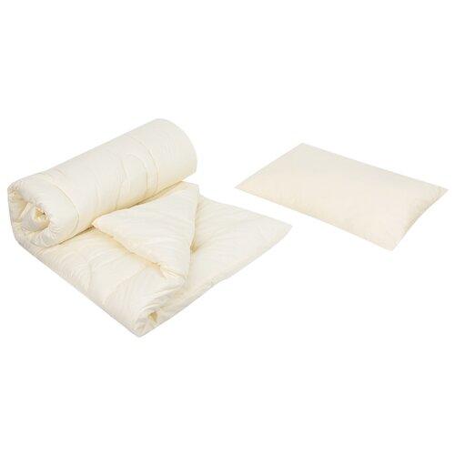 Комплект Сонный Гномик Лебяжий пух 061 бежевыйПокрывала, подушки, одеяла<br>