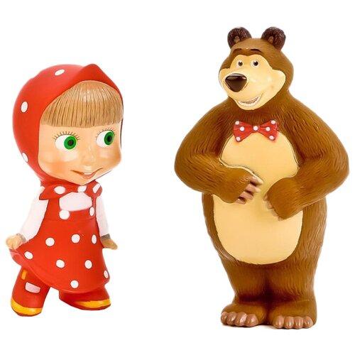 Купить Набор для ванной Играем вместе Маша и медведь (3R-35RMM) красный/коричневый, Игрушки для ванной