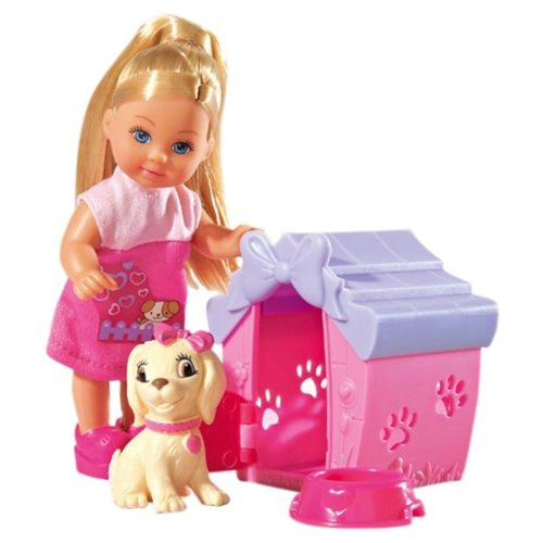 Купить Набор Simba Еви с собачкой в домике, 12 см, 5735867029, Куклы и пупсы