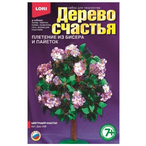 LORI Набор для бисероплетения Цветущий каштан зеленый/розовый lori набор для бисероплетения сакура розовый