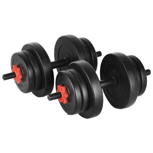 Набор гантелей разборных Lite Weights 2327LW 2x9.5 кг бодибар lite weights 33 х 1200 мм 6 кг