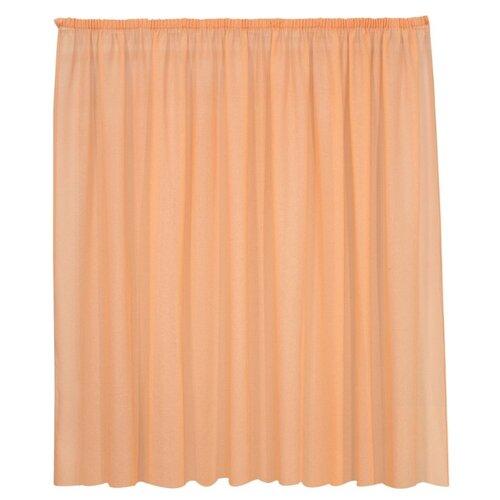 Тюль Kauffort Basicos-M на тесьме 175 см оранжевый