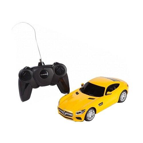 Купить Легковой автомобиль Rastar Mercedes AMG GT3 (72100) 1:24 31 см желтый, Радиоуправляемые игрушки