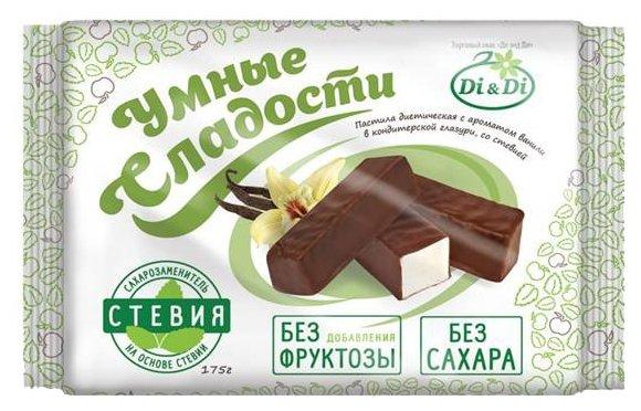 Пастила с ароматом ванили Умные сладости в шоколаде со стевией 175 г