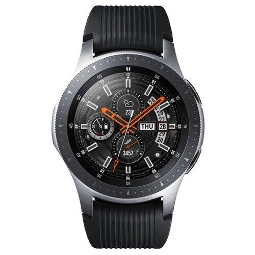 Часы Samsung Galaxy Watch (46 mm) silver/onyx black часы samsung galaxy watch 46 mm sm r800 серебристая сталь