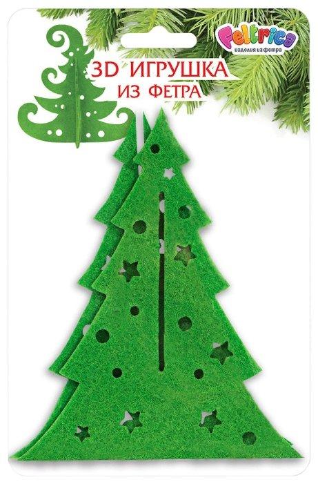 Фигурка Feltrica Елка настольная Звезды и шары зеленый