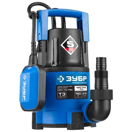 Дренажный насос ЗУБР НПЧ-Т3-750 (750 Вт) дренажный насос leo xks 750p 750 вт