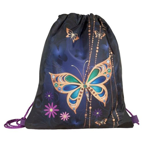 Купить Target Сумка для детской сменной обуви Золотая бабочка 2 (17914) синий/золотистый, Мешки для обуви и формы