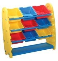 Стеллаж King Kids 94х38х91 см (KK_TB1500) желтый/красный/синий