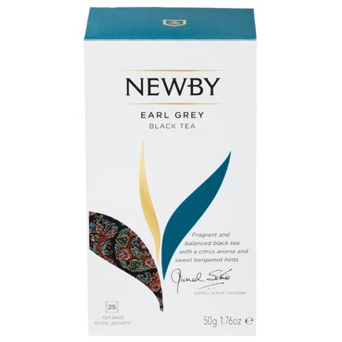 Чай черный Newby Earl grey в пакетиках, 25 шт.