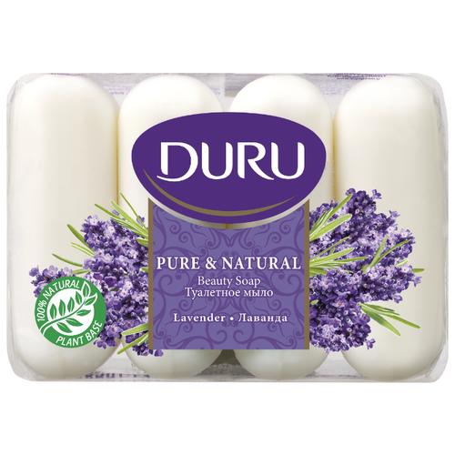Мыло кусковое DURU Pure & natural Лаванда, 4 шт., 85 г мыло кусковое duru fresh sensations цветочное облако 150 г