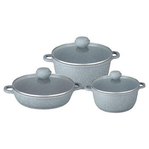 Набор посуды Bekker Premium BK-4608 / BK-4609 6 пр. silver marble набор противней 3 пр bekker