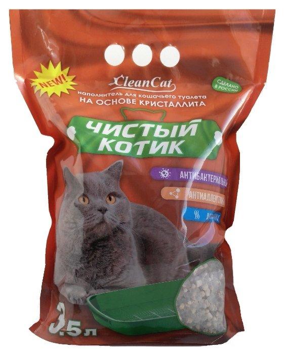 Впитывающий наполнитель Чистый котик Кристаллитовый 3,5 л