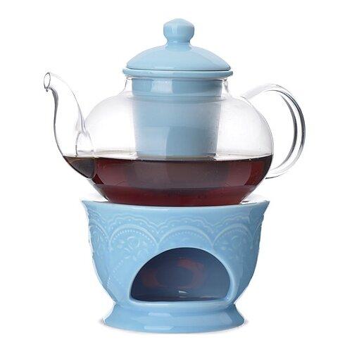 MAYER & BOCH Заварочный чайник 27563/27564/27565/27566/27567 600 мл прозрачный/голубой mayer boch чайник электрический 1 8л 1500вт zm 10967