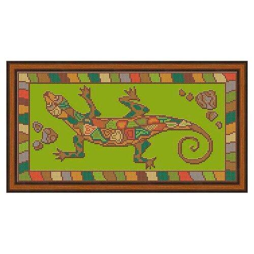Купить Galla Collection Набор для вышивания бисером Ящерица 35 х 18 см (А403), Наборы для вышивания