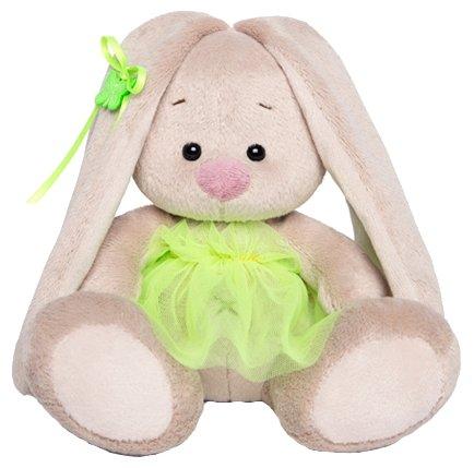 Мягкая игрушка Зайка Ми в зелёной юбочке-фонарик 15 см