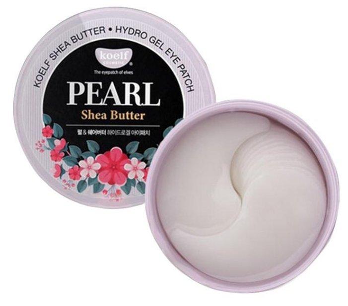 Koelf Гидрогелевые патчи для век с маслом ши и жемчужной пудрой Pearl & shea butter hydrogel eye patch (60 шт.)