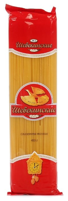 Шебекинские Макароны Спагетти тонкие № 2, 450 г