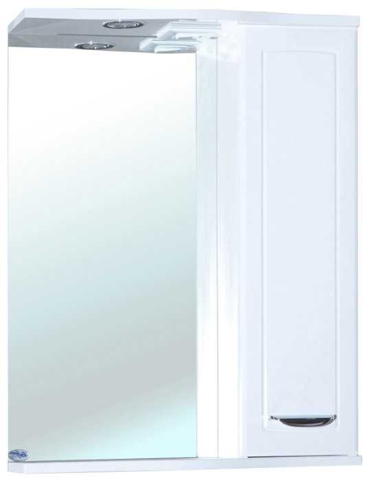 Зеркало Bellezza Классик 55х73см белый, правый без рамы