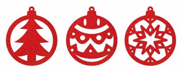 Набор шаров Feltrica Новый год красный