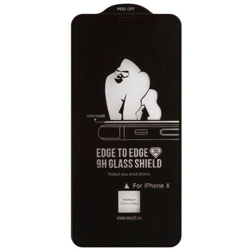 Купить Защитное стекло WK Kingkong 3D Full Cover Curved Edge Tempered Glass для Apple iPhone X черный