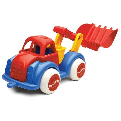 Купить Экскаватор Viking Toys Jumbo (1212) 28 см красный/синий/желтый, Машинки и техника