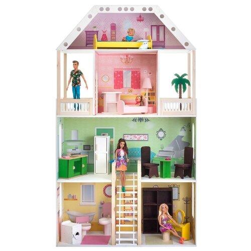 Купить PAREMO Поместье Шервуд (с мебелью) PD318-01, белый/зеленый/розовый, Кукольные домики
