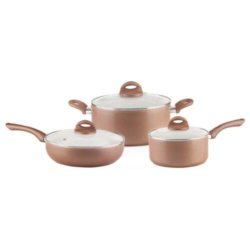 Набор посуды GALAXY GL9507 6 пр. коричневый наборы посуды galaxy gl 9504 6 предметов