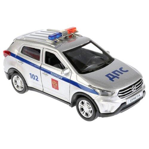 Внедорожник ТЕХНОПАРК Hyundai Creta Полиция (CRETA-P-SL) 12 см серый/синий