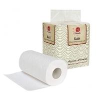 Полотенца бумажные Maneki Kabi белые двухслойные 4 шт.