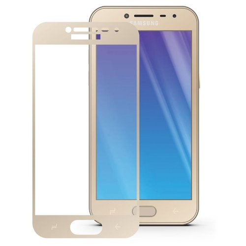Защитное стекло Mobius 3D Full Cover Premium Tempered Glass для Samsung Galaxy J2 2018 золотистый аксессуар защитное стекло pero для samsung galaxy j2 2018 2 5d black