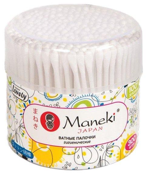 Ватные палочки Maneki Lovely с белым пластиковым стиком (CB937/СВ1132)