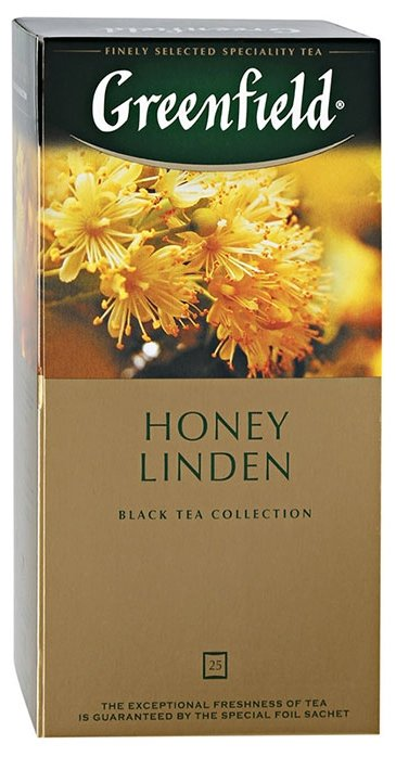 Чай черный Greenfield Honey Linden в пакетиках, 25 шт.