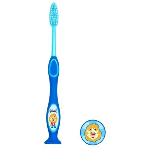 Зубная щетка Chicco для молочных зубов от 3 до 6 лет, голубойГигиена полости рта<br>