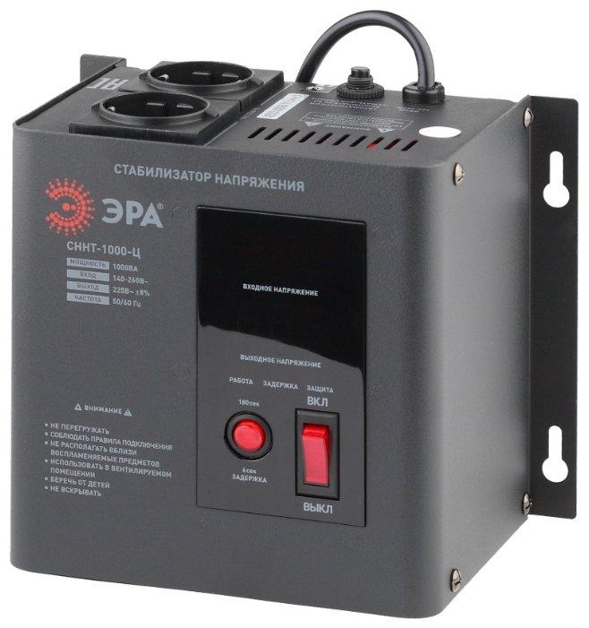 Стабилизатор напряжения однофазный ЭРА СННТ-1000-Ц (1 кВт)