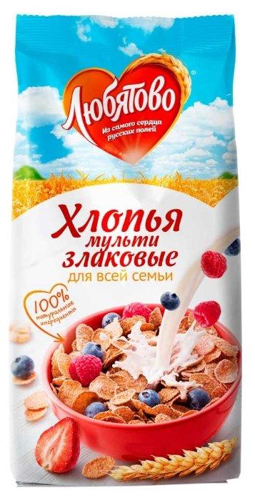 Готовый завтрак Любятово Хлопья мультизлаковые, пакет