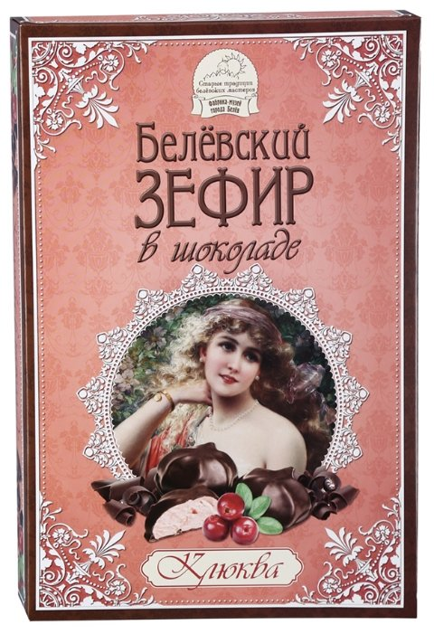 Зефир Старые Традиции Белёвский в шоколаде Клюква 250 г