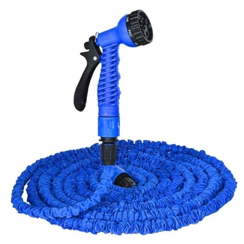 Комплект для полива XHOSE Magic Hose 30 метров (с распылителем) синий комплект для полива xhose magic hose 45 метров с распылителем зеленый
