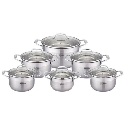 Набор кастрюль Rainstahl 1210-12RS\CW 12 пр. стальной набор посуды rainstahl с антипригарным покрытием 12 предметов цвет белый 1855 12rs cw мrb