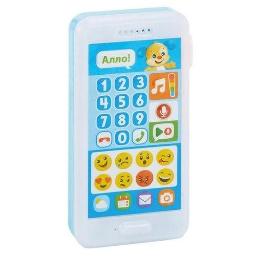 Интерактивная развивающая игрушка Fisher-Price Смейся и учись. Телефон Ученого щенка (FPR23) белый/голубой